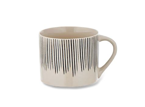 Karuma Ceramic Mug - Small - Black & White