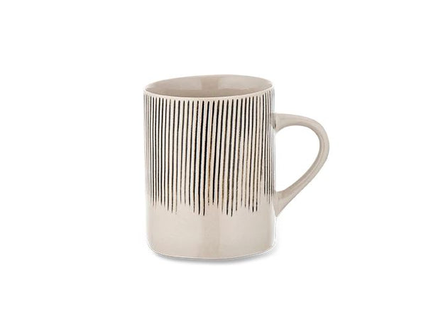 Karuma Ceramic Mug - Tall - Black & White