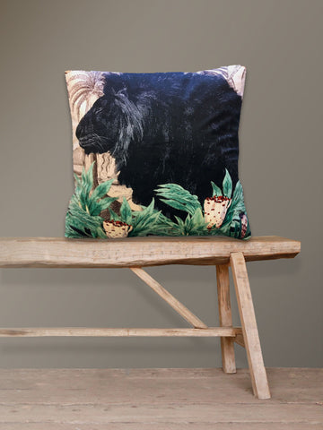 Velvet Cushion Little Lion
