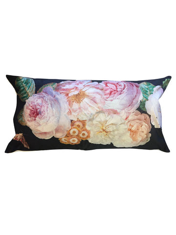 Velvet Cushion Black Rose