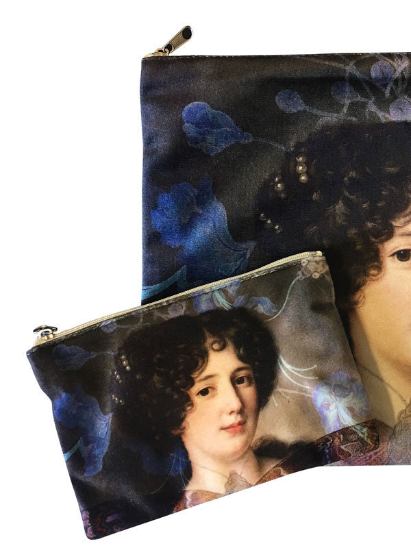 Velvet Makeup Bags and Pouch- Lady