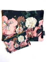 Velvet Makeup Bags and Pouch - Pink Poppy