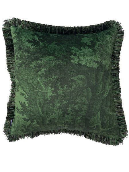 Green Woods Cushion w/ Fringe