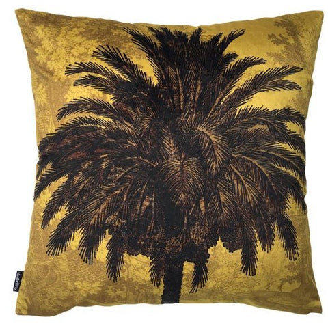 Mustard Palm Cushion
