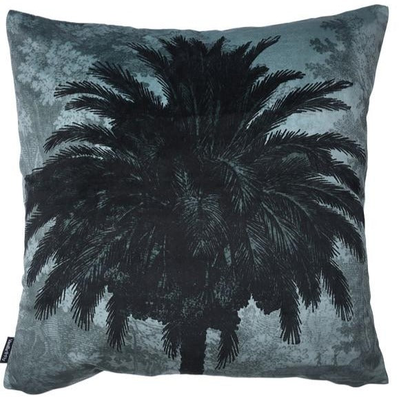 Blue Palm Cushion