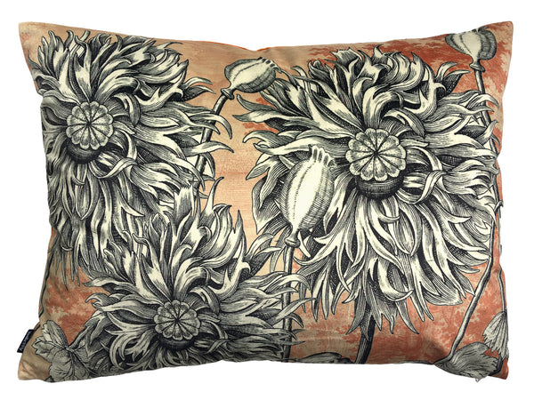 Big Coral Poppy Cushion