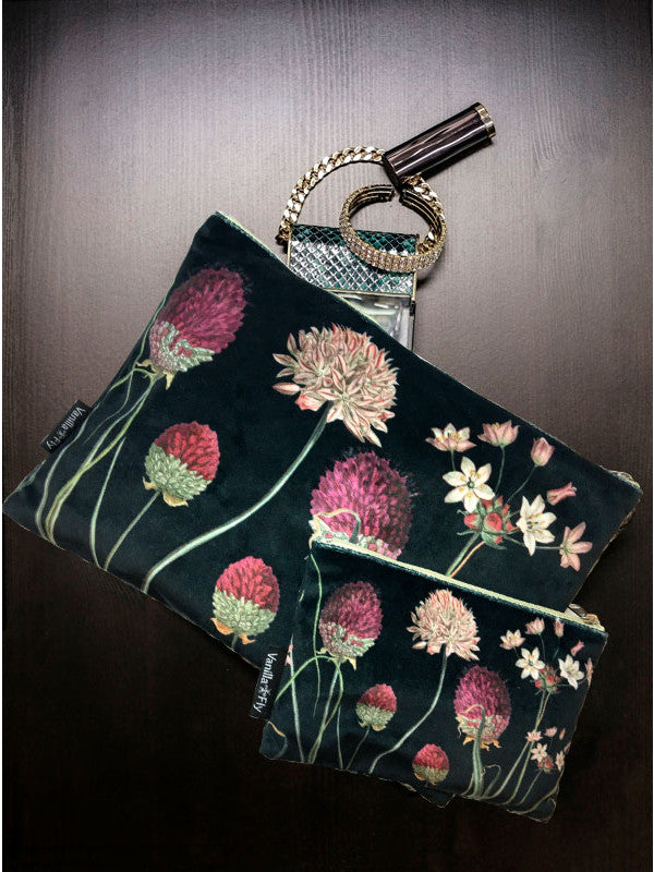 Velvet Makeup Bags and Pouch - Flower & Thistle