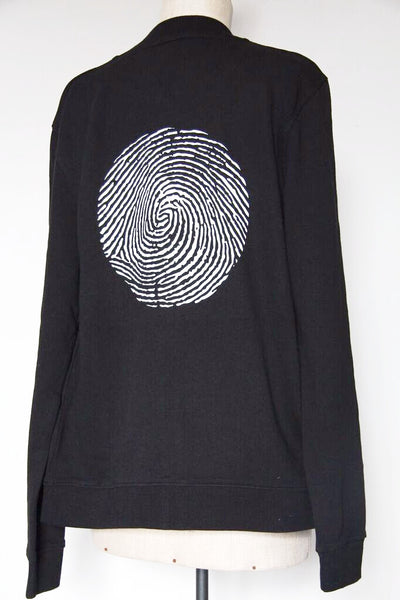 Window Dressing The Soul Bomber Jacket - Black With Thumb Print