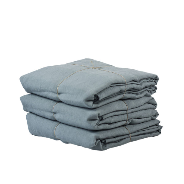 Pillowcase linen -Pair Dusty blue