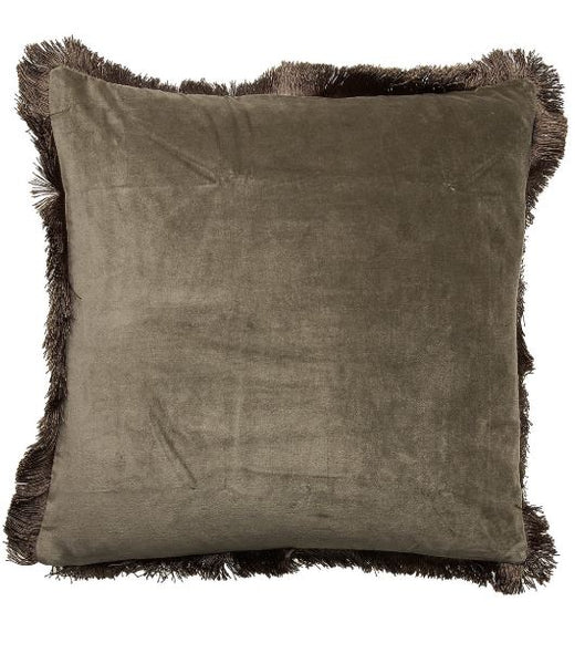 Day Velvet Cushion Cover Military