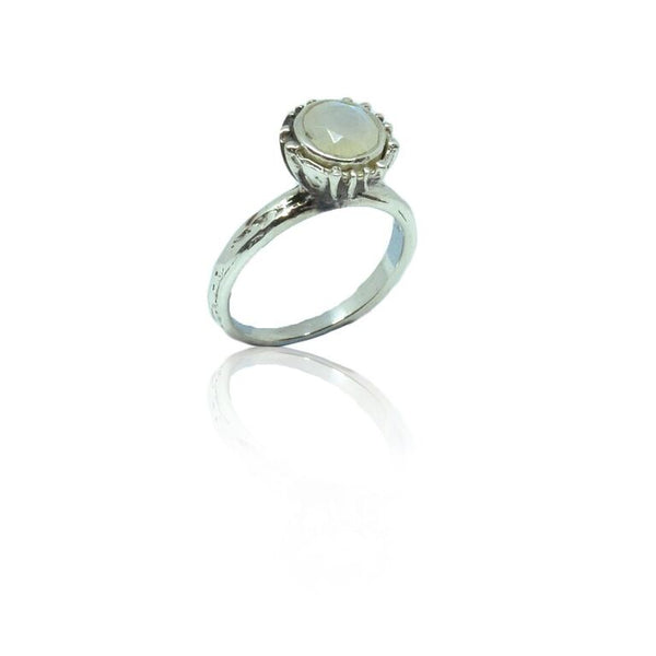 CollardManson 925 silver twine set ring- moonstone