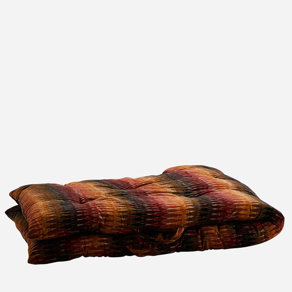 IKAT WOVEN COTTON MATTRESS - Burgundy/orange/black