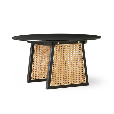 Coffee Table with Webbing - Black