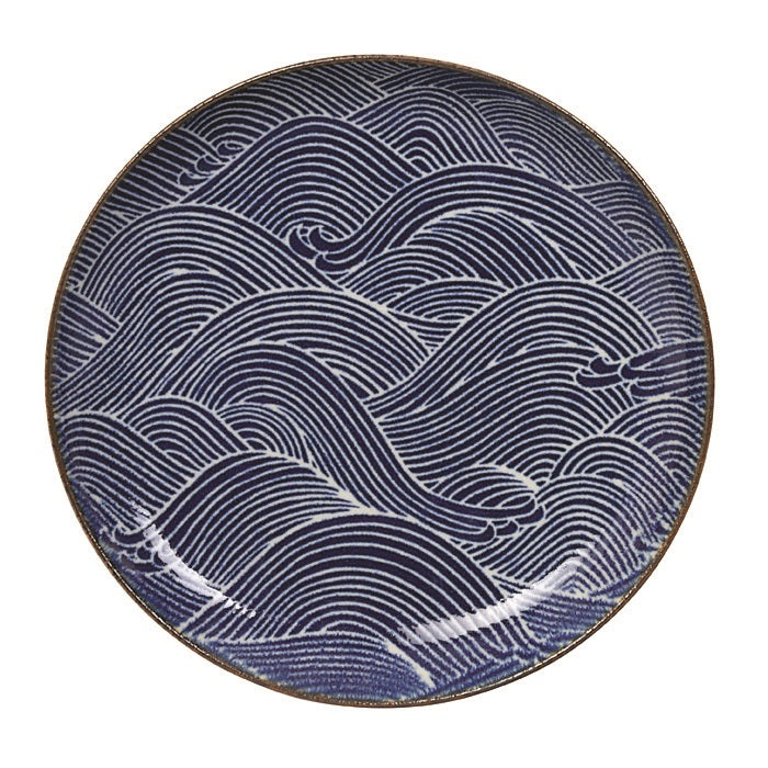 Seigaiha Japanese Plate- Small