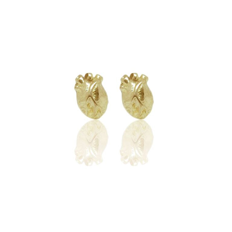 WDTS gold plated 925 Silver Heart Earrings
