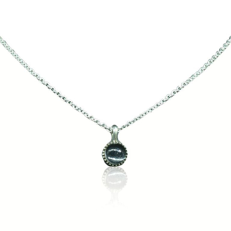 925 silver Crystal Stone Necklace