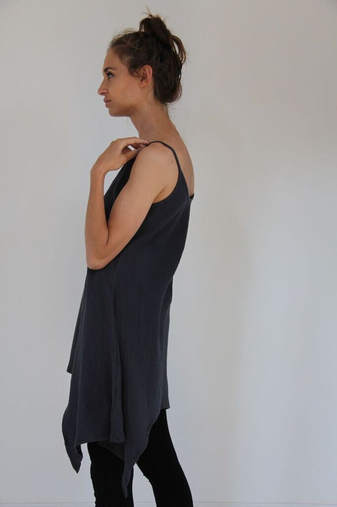 CollardManson Thin Strap Dress- Navy