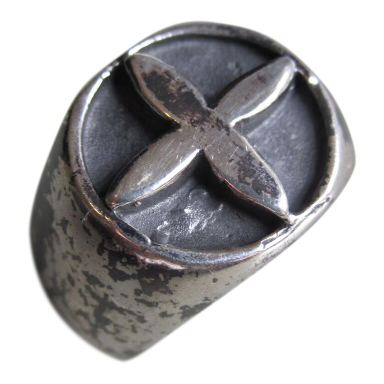 925 Silver Oxidised Cross Ring