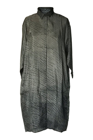 Yavi Elba Silk Shirt Dress - Snake Print
