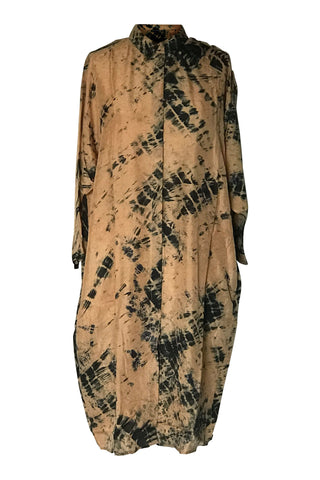 Yavi Elba Silk Dress - Gold/Black