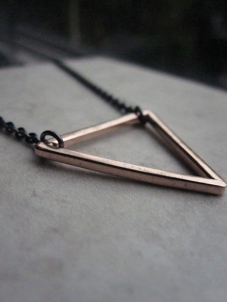 925 Silver Triangle Necklace