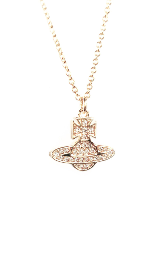 Vivienne Westwood Romina Pave Pendant Necklace - Gold