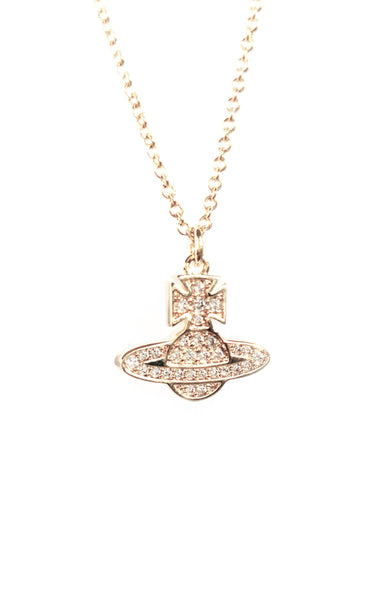 Vivienne Westwood Romina Pave Pendant Necklace- Gold