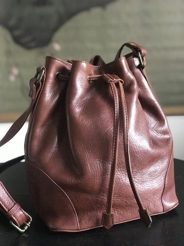 CollardManson Bucket Bag - Brown Leather