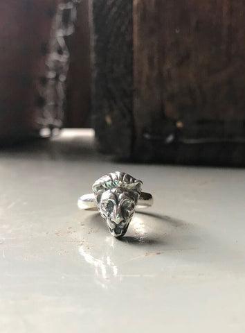 925 Silver Atlas Lion Ring