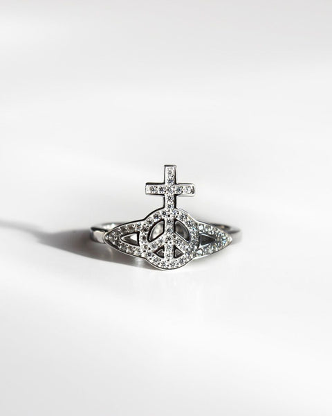 Vivienne Westwood Peace Pave Orb Ring