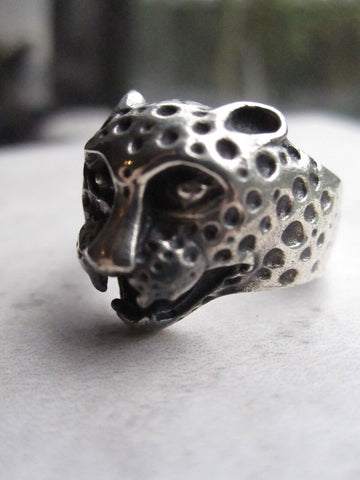 925 Silver Cheetah Ring