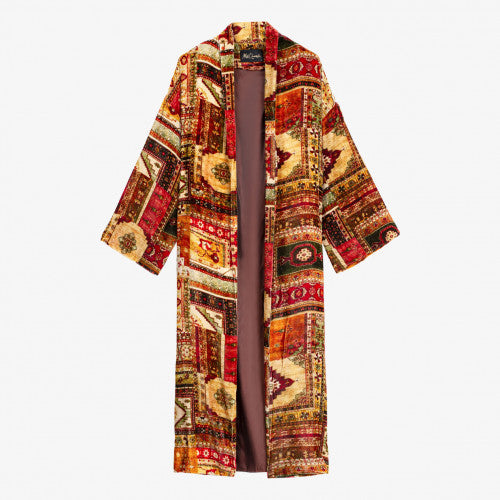 AW20 Mes Demoiselles Coat - Red Print - Balazet