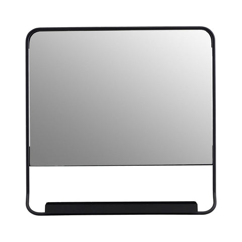 Mirror With Shelf, Chic Black 45 x 45