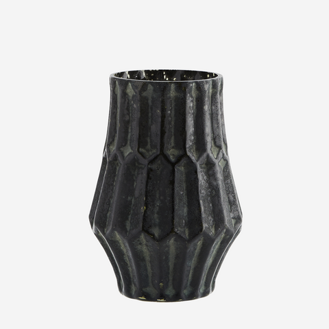 Glass Vase, Dark Green