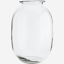 Glass Vase, Clear, Round