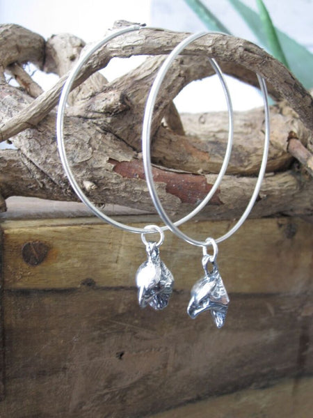 925 Silver Eagle Head Hoop Earrings
