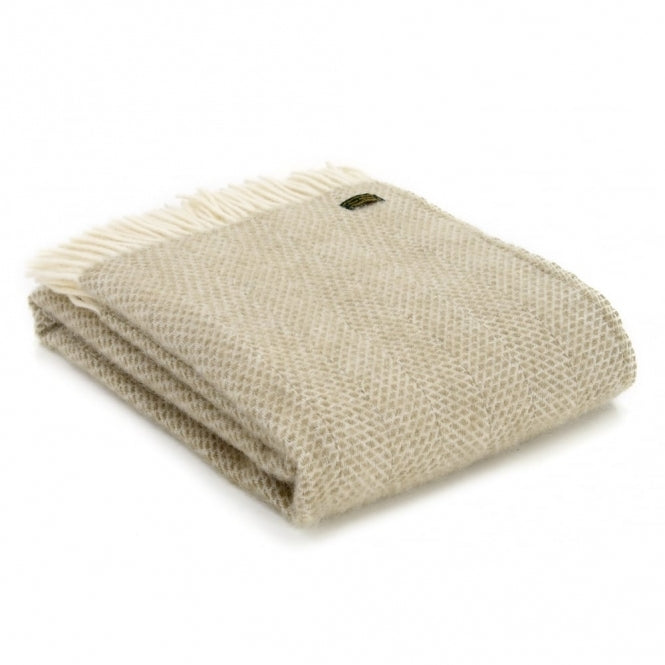 Lifestyle Beehive Throw - 150x183cms - Oatmeal