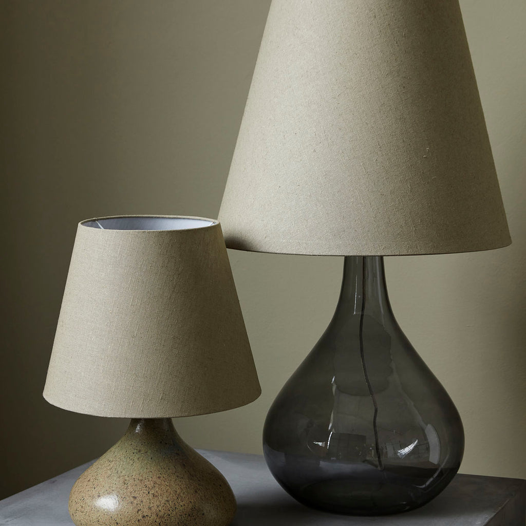 Grey Glass Lamp & Illy Green Shade