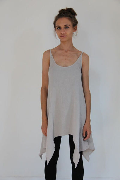 CollardManson Thin Strap Dress- Light Grey