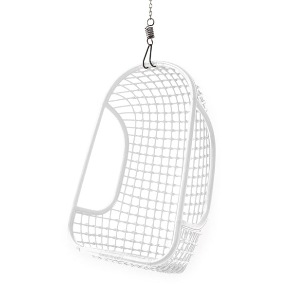 Hanging rattan chair white