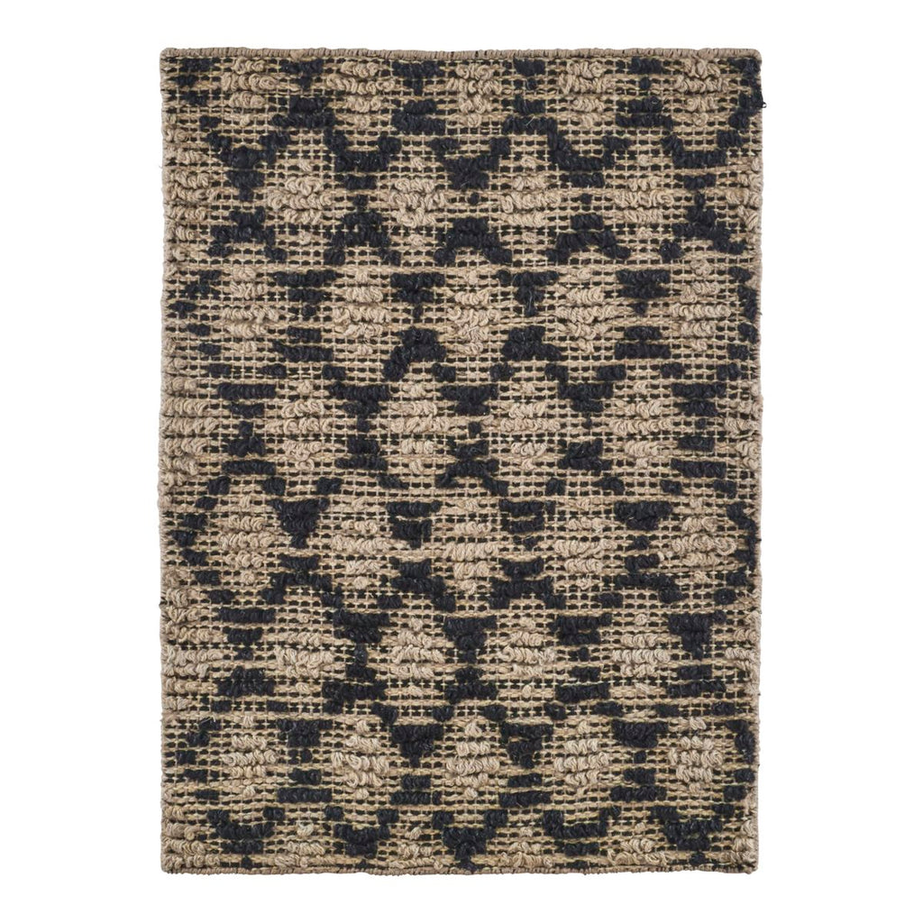 RUG, HARLEQUIN, BLACK/NATURAL