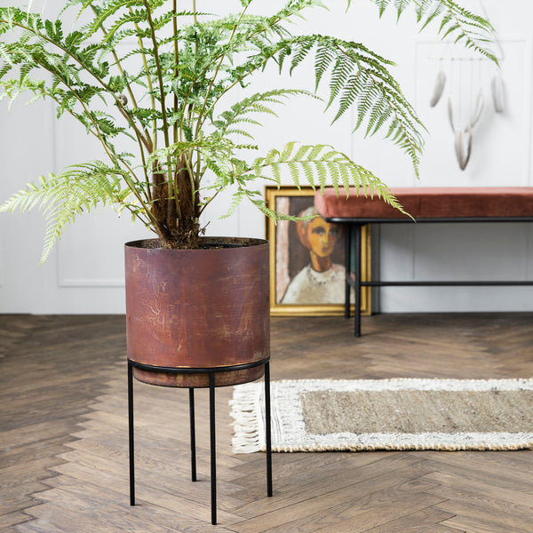 PLANTER, NIAN, RUST Large
