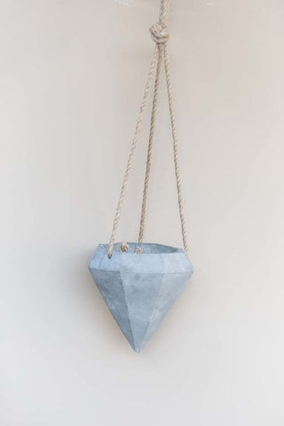 Concrete Hanging Diamond Planter