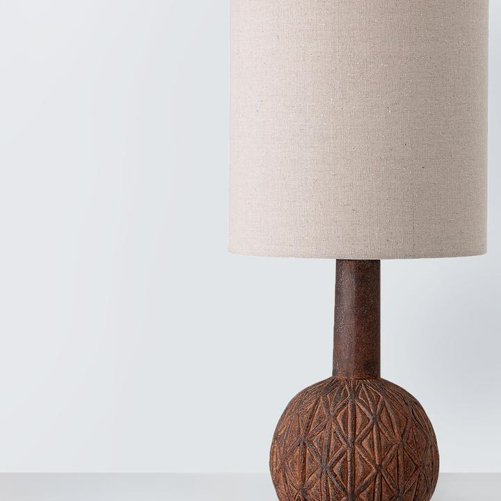 Table lamp, Brown, Terracotta