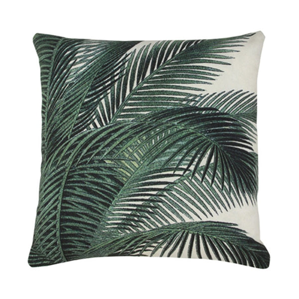 printed palm leaves (45x45)