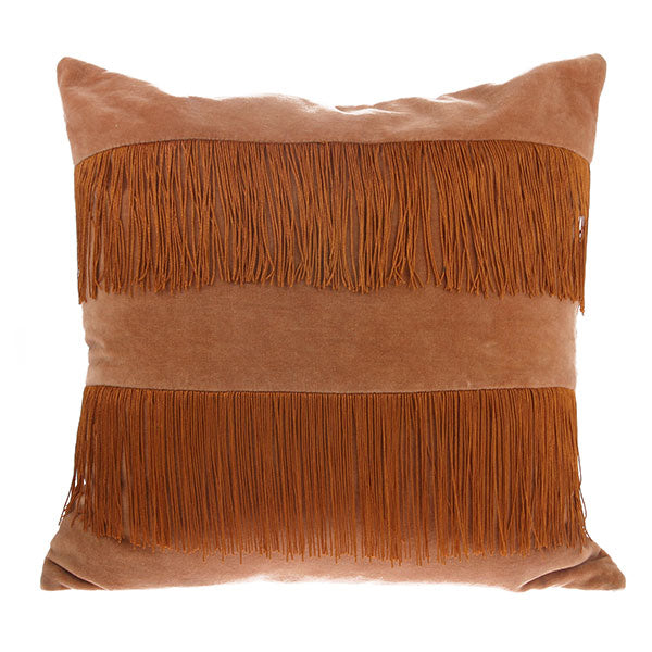 Velvet Fringe Cushion