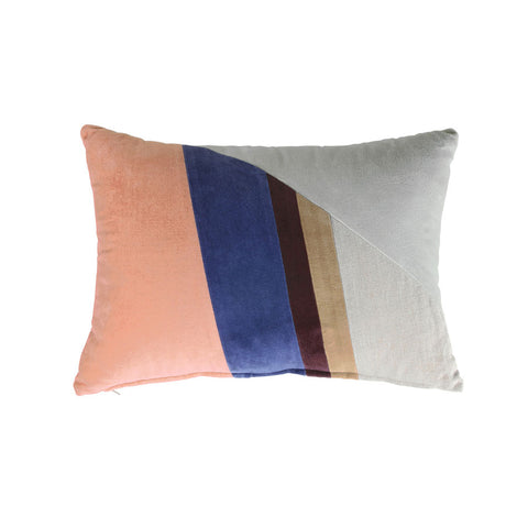 Velvet Patch Cushion- Multicolour