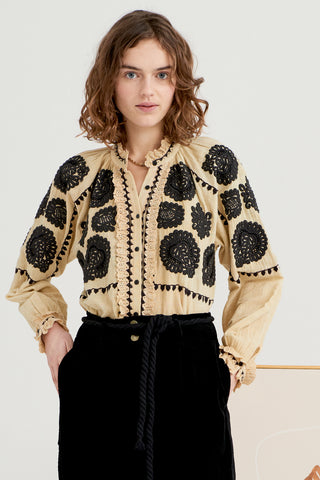 Antik Batik Embroidered Blouse - Cream