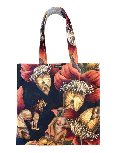 Velvet Tote Bag - Jungle Ape
