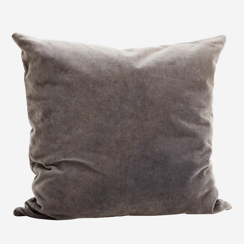 Dark Grey Velvet Cushion